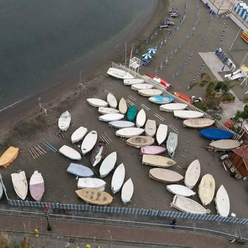 Barche a secco a Marina di Cassano